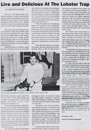 Business to Business newspaper, 1989
