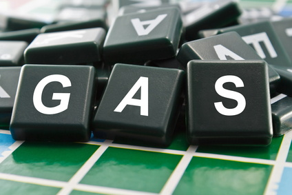 Gas in Scrabble squares