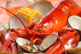 Lobster, Clams and Corn