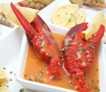 lobster bisque with claws