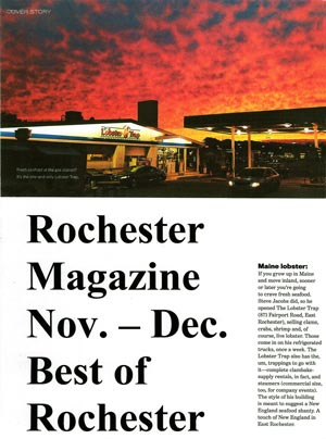 Rochester Magazine article, 2010
